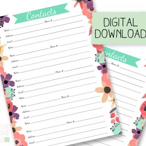 Printable Download Insert