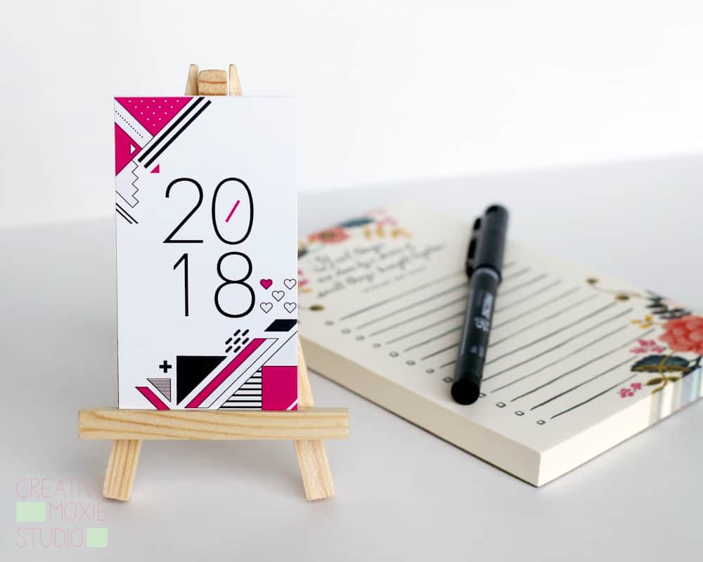 2018 desk calendar with stand creative moxie studio